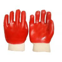 Wholesale Fashion Design PVC Coated Gloves Cotton Interlock Lining High Durability from china suppliers
