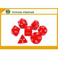 China Poker Accessories Custom White / Solid 4 6 8 10 12 20 Sided Polyhedral Dice Set wholesale
