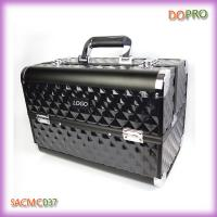 China Double opened whole black ABS makeup vanity cases (SACMC037) wholesale