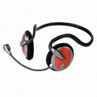 Buy cheap Back Hang Wired Headphone with Microphone and 20mW Rated Power from wholesalers