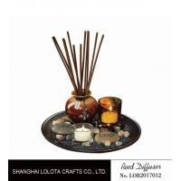 Wholesale Brown Room Reed Diffuser For Large Room , Ceramic Aromatherapy Diffuser from china suppliers