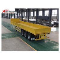 Wholesale 3 Axles Drop Side Front Load Trailer High Duty Steel Structure 60T Payload from china suppliers