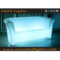 China Color Change RGB LED Sofa / Battery Operated Light Sofa Set With Remote Control , Eco Friendly wholesale