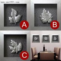 Wholesale Wood Carving Leaf 3D Wall Art from china suppliers