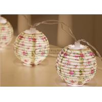 Wholesale Flower Battery Operated Paper Lantern String Lights 7.5 Cm Energy Saving Led Party Decor from china suppliers