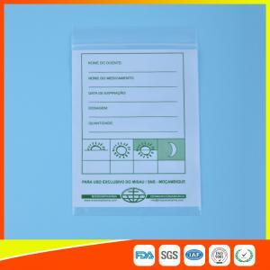 Clear Ziplock Pill Bags For Tablet Dispensing , Reclosable Plastic Seal Bags