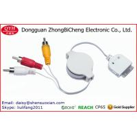 Wholesale Retractable Dock 30Pin Connector Sex Video AV RCA Cable from china suppliers