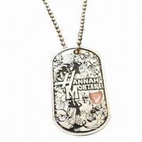 Wholesale Zinc-alloy Dog Tag, Measuring 50 x 29mm from china suppliers