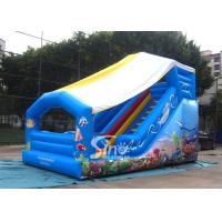 Wholesale Outdoor Kids Sea World Small Inflatable Slide With Cover On Top For Parties from china suppliers