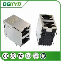 Wholesale 100base 2-Port  2 X1 RJ45 female Jack with internal Transformer with LED for Network Switch from china suppliers