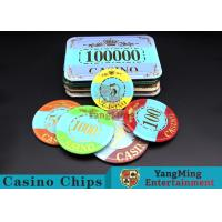 Wholesale Customizable Casino Poker Chips of Crown Bronzing Rectangular / Round Shape from china suppliers