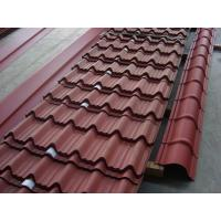 Black Color corrugated galvanized steel roofing sheets / tiles thickness 0.3 - 0.6mm