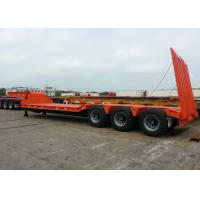 Wholesale 70 Ton Fixed Gooseneck Low Bed Semi Trailer , 3 Axle Heavy Duty Lowboy Trailer from china suppliers