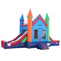 Wholesale Attractive Inflatable Party City Bounce House , Double Slide Inflatable Moon Bounce from china suppliers