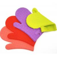 Wholesale Home BPA Free Heat Proof BBQ Gloves / Silicone Oven Gloves With Fingers from china suppliers