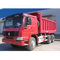 Wholesale LHD / RHD 6x4 Heavy Duty Dump Truck , Red SINOTRUK HOWO Tipper Dump Truck from china suppliers