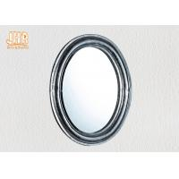 Wholesale Oval Industrial Style Fiberglass Furniture Silver Mosaic Glass Framed Wall Mirror from china suppliers