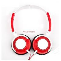 Wholesale classic designfashionable many color headphone with white point in ear cover and foldable headband from china suppliers
