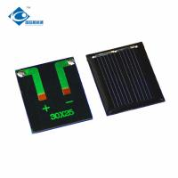 China 0.1W 1V chinese solar panel price for Home Solar Power System ZW-2530 1V mini solar photovoltaic panel on sale