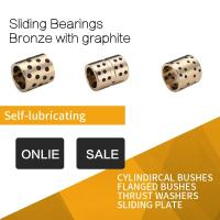 China Graphite Plugged Brass Bushings , Inch Sizes Continuous Casting Machined Precision Parts on sale