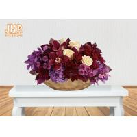 Wholesale Frosted Gold Fiberglass Decoration Flower Serving Bowl Centerpiece Table Vase from china suppliers