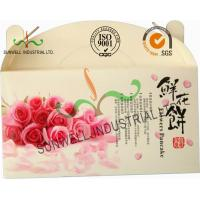 Wholesale Flower Cookies Cardboard Food Packaging Boxes , Disposable Cardboard Food Containers from china suppliers