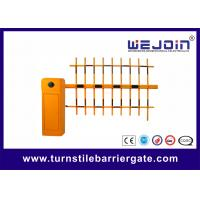 Wholesale Three Fence Parking Barrier Gate , Road Barrier Gate Arms 4m Boom Length from china suppliers