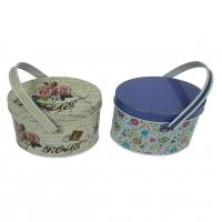 Flower print small tin containers for candy packaging for Small tin containers