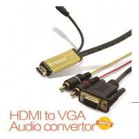 Wholesale HDMI to VGA+2RCA Converter with 2M Cable from china suppliers