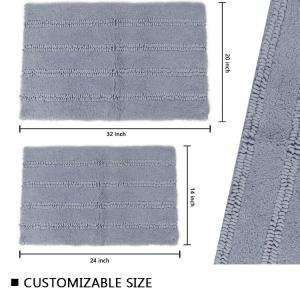 Wholesale Loop Pile Microfiber Chenille Bath Mat from china suppliers