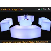 China Plastic remote control Led Outdoor Furniture , Curved Bench Illuminated Chairs for bar club events wholesale