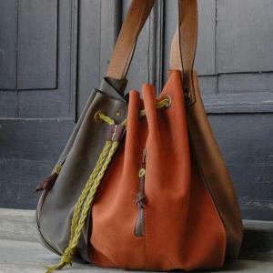 Wholesale handmade leather woman handbag OVERSIZE LADYBUQ bag from china suppliers