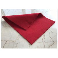 Light Red Wool Fabric Soft Comfortable , Double Faced Wool Crepe DressFabric 70w 720g