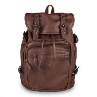 Wholesale Retro Fashion Institute of wind men and women shoulder bag backpack school students tide Korea PU leather leisure backpa from china suppliers