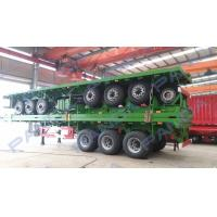 China PANDA New Design 3-axle 20ft 40ft flatbed container truck trailer wholesale