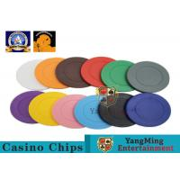 Lightweight ABS Hotstamping Logo Dice Poker Chip / Colorful Roulette Poker Chips