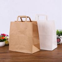 Wholesale Custom Printed Kraft Paper Bags Environmentally Friendly Flat Hand Rope from china suppliers
