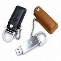 Wholesale USB Flash Drives in Exclusive Style, Made of Luxurious Leather, 10-year Data Retention from china suppliers