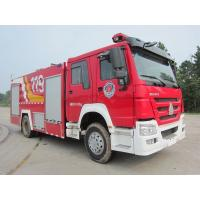 Wholesale Howo 8T Foam Fire Truck , Water Tank Firefighting Apparatus 6 Wheel 290hp from china suppliers