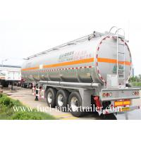 China 30 - 60CBM Aluminum Alloy Fuel Crude Oil Tanker Trailers 50000 Liters wholesale