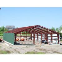 Double span steel building frame industrial steel framed for Steel frame barns for sale