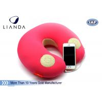 China Natural Music Sound Vibrating Massage Neck pillow with speaker , Memory Foam materials wholesale