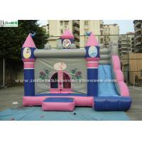 China Outdoor Pink Bouncy Castles Inflatable Combo With Slide For Kids / Children on sale