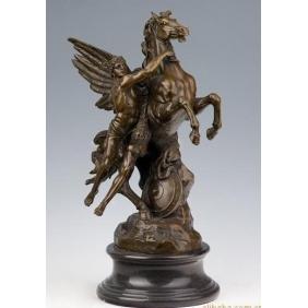 Antique Romantic Mythic Bronze myth Sculpture