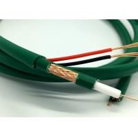 Wholesale Green PVC Siamese Camera Cable Kx7+2Alim Coaxial With Power 7*0.2mm Bare Copper from china suppliers