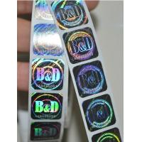 Wholesale 3D Laser Anti-Counterfeiting hologram sticker, Anti-counterfeiting Label, Anti-fake label from china suppliers