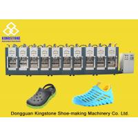 Rain Boots Plastic Chappal Making Machine , Vertical Shoe Sole Mould Making Machine