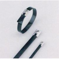 Wholesale Heat Resistant Stainless Steel Roller Ball Cable Ties , Tightening Metal Cable Ties from china suppliers
