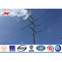 Buy cheap high voltage power transmission galvanized steel electric pole from wholesalers