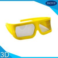 Wholesale Yellow Big Frame Linear Polarized 3D Glasses 148 * 52 * 155mm For Cinema from china suppliers